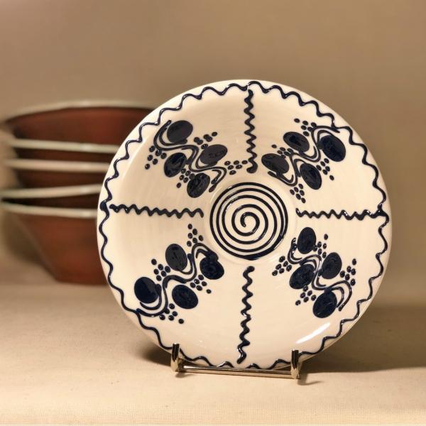 Bol alb albastru Ø 15 cm model  3 0