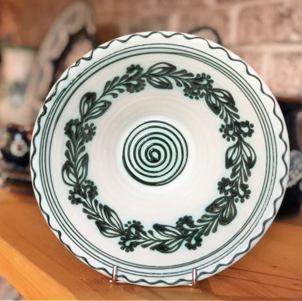 Bol alb verde Ø 19 cm model 3