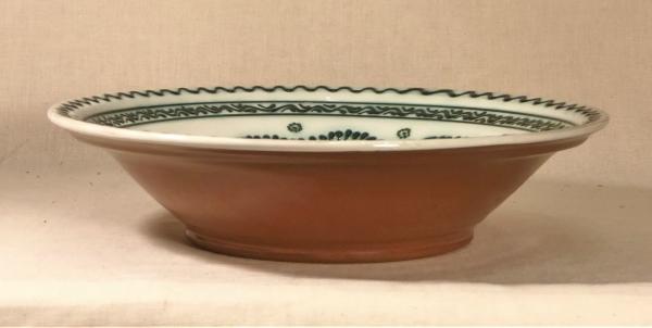 Castron alb-verde 29 cm model 1 1