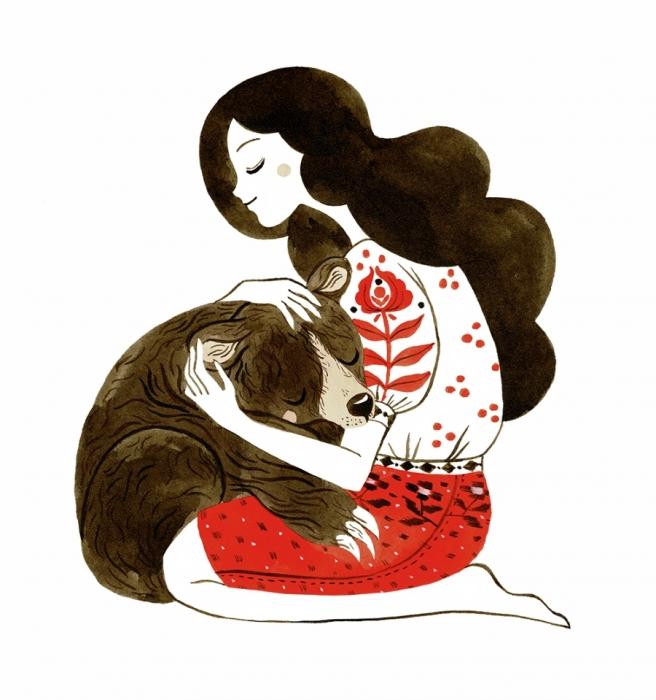 Felicitare - Îmbrățișare de urs