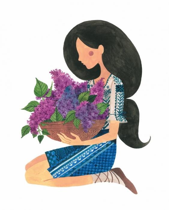 Felicitare - Liliac