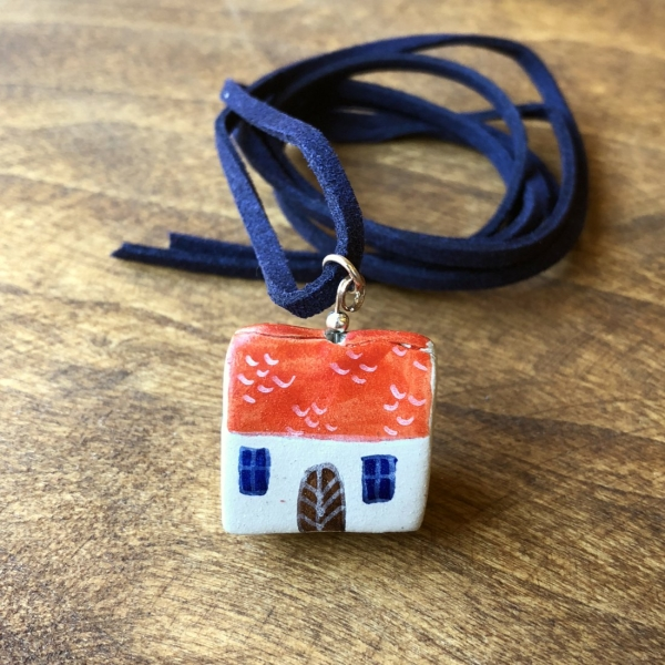 Căsuță cu șnur pictată manual Little Houses model 4 0