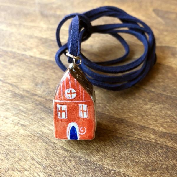 Căsuță cu șnur pictată manual Little Houses model 5