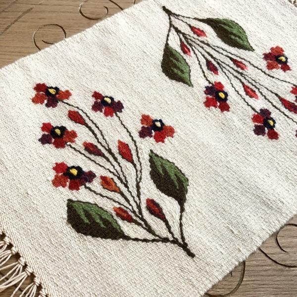 Carpetă 40x30 cm motiv flori de câmp roşii 0