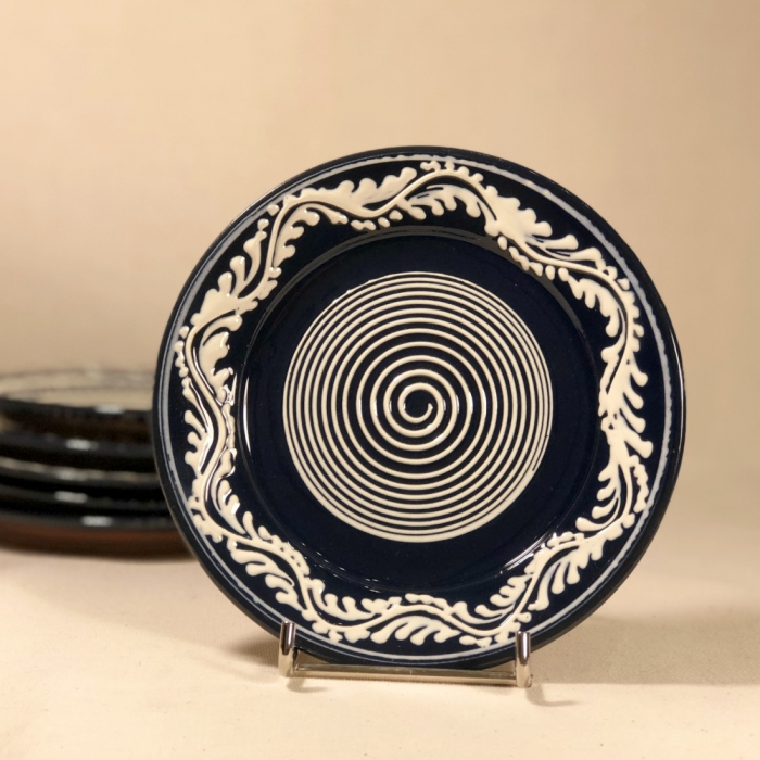 Farfurie albastră Ø 14 cm model 1