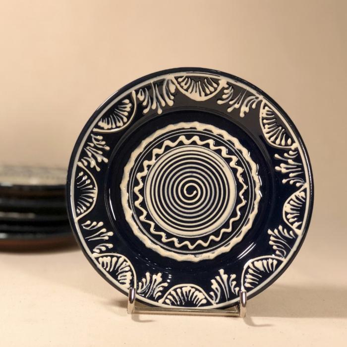 Farfurie albastră Ø 14 cm model 4