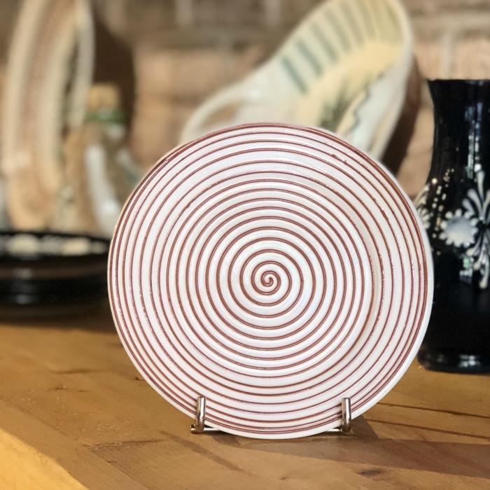 Farfurie alb maro Ø 14 cm model 4