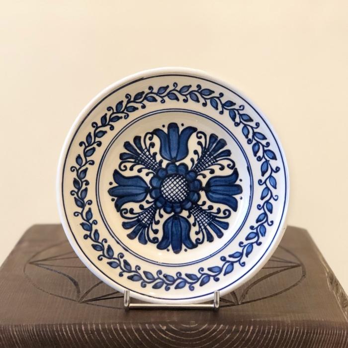 Farfurie alb-albastră Ø 16 cm model 2 0