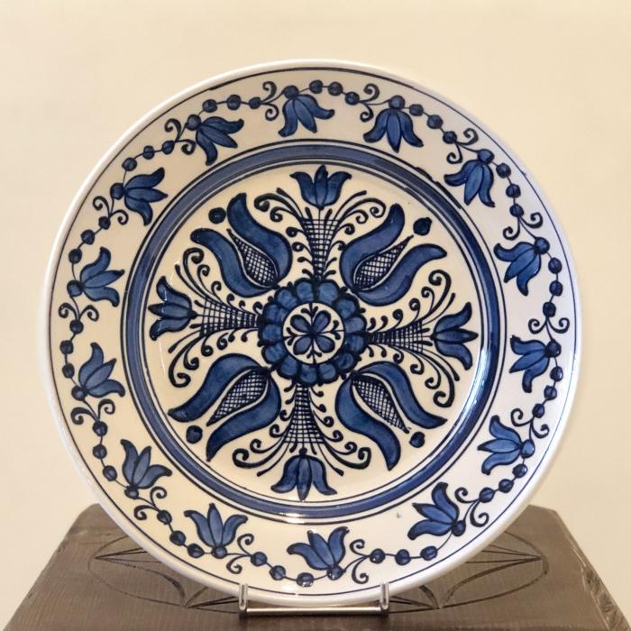 Farfurie alb-albastră Ø 24 cm model 2