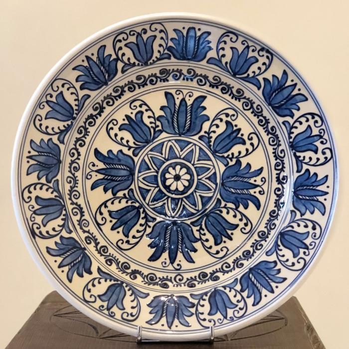 Farfurie alb-albastră Ø 28 cm model 4 0