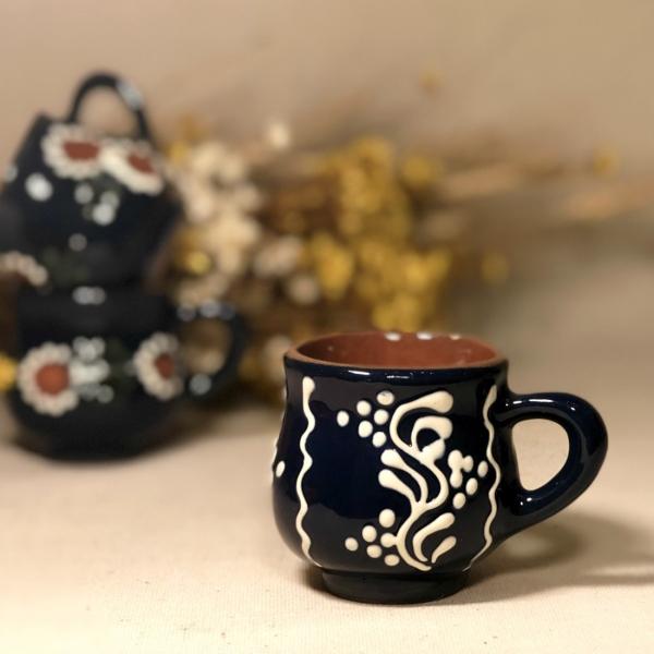 Pahar țuică albastru model 2 1