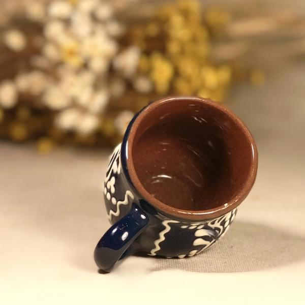 Pahar țuică albastru model 2