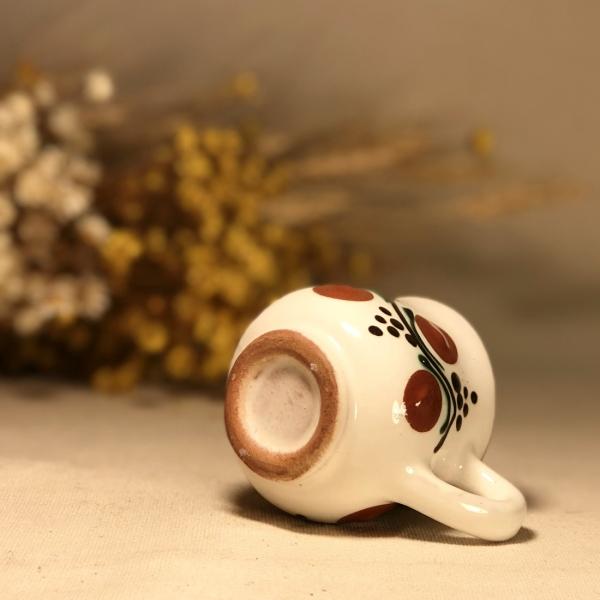 Pahar țuică alb maro model 1