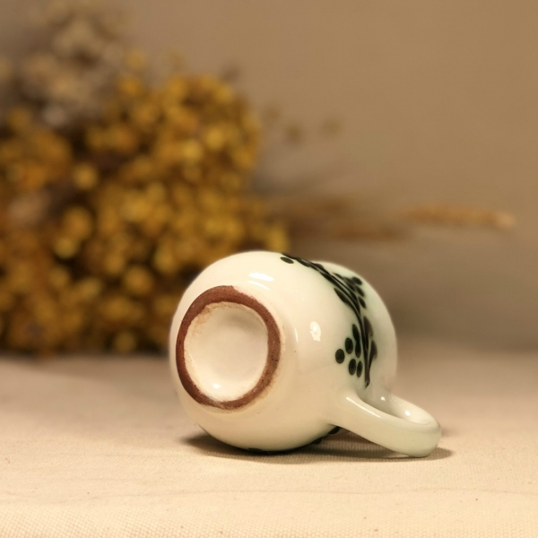 Pahar țuică alb verde model 2
