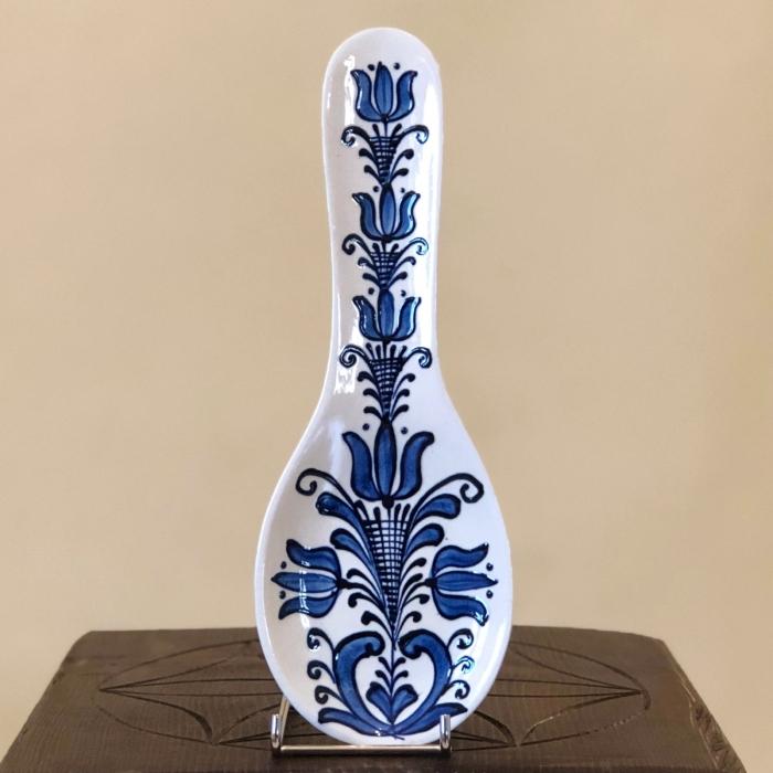 Suport lingură alb-albastru model 1 0